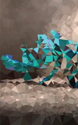 Fotomural Poligonal fundo colorido