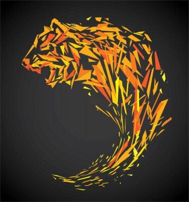 Fotomural Polígono tigre
