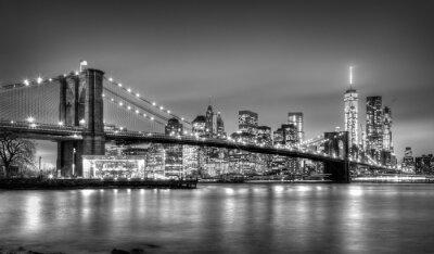 Fotomural Ponte de Brooklyn no crepúsculo, New York City.