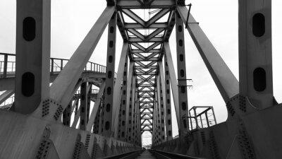 Fotomural Ponte ferroviária de aço