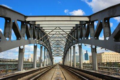 Fotomural Ponte Ferroviária em Moscou