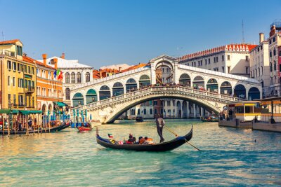 Fotomural Ponte Rialto, em Veneza