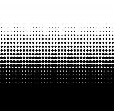 Fotomural pontos pretos gradiente