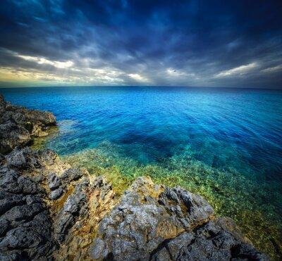 Fotomural Pôr-do-sol e mar
