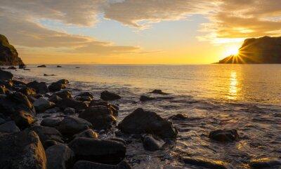 Fotomural Pôr do sol, famosos, ilha, skye, escócia