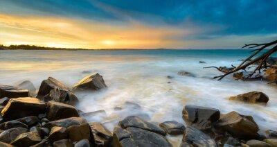 Fotomural Pôr do sol na praia