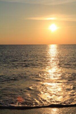 Fotomural Pôr do sol no mar