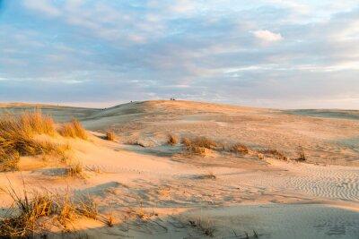 Fotomural Pôr do sol sobre as majestosas dunas no Jockey's Ridge State Park