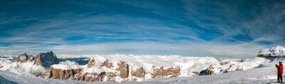 Fotomural Pordoi dolomitas italianas panorama paisagem