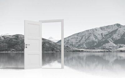 Fotomural Porta aberta para algum lugar