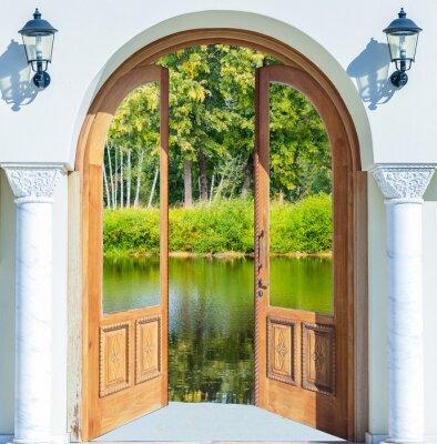 Fotomural Porta do arco lagoa aberta