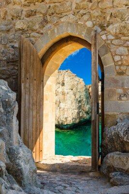 Fotomural porta mar aberto