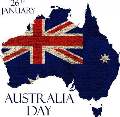 Fotomural Poster do dia de Austrália