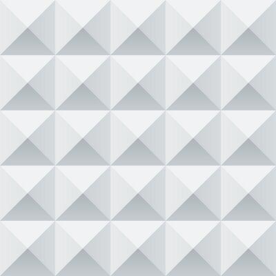 Fotomural Praças geométricas brancas e cinzas padrão sem emenda abstrato