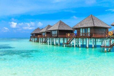 Fotomural Praia com Maldivas
