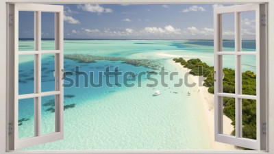 Fotomural Praia tropical