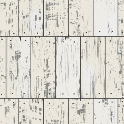 Fotomural Pranchas de madeira Imitação com pregos. Teste padrão sem emenda retro