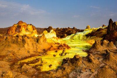 Fotomural PREÇO / INFO Adicionar à Mesa de Luz sulphur, lago, Danakil, depressão, Etiópia