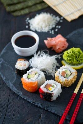 Fotomural Preparando sushi