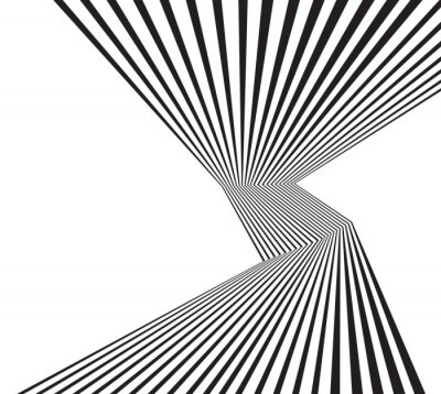 Fotomural Preto, branco, mobious, onda, listra, óptico, abstratos, desenho