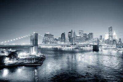 Fotomural Preto centro de Nova York Manhattan e branco