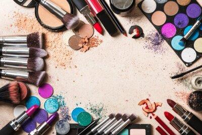 Fotomural Produtos de maquiagem