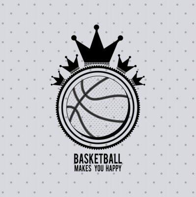 Fotomural Projeto da liga de basquetebol