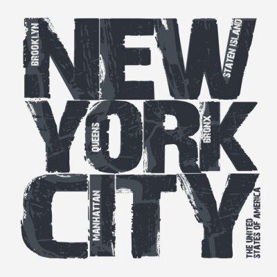 Fotomural Projeto da tipografia de New York City