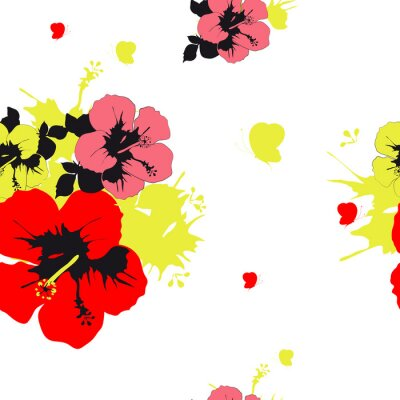 Fotomural Projeto das flores