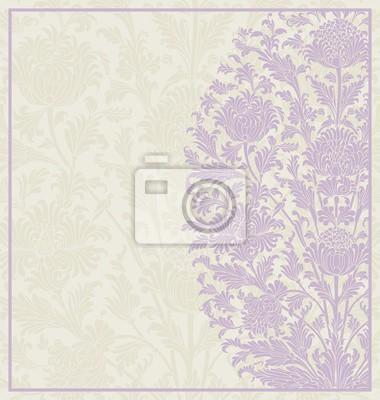 Fotomural Projeto do cartão de casamento, teste padrão floral de paisley, India