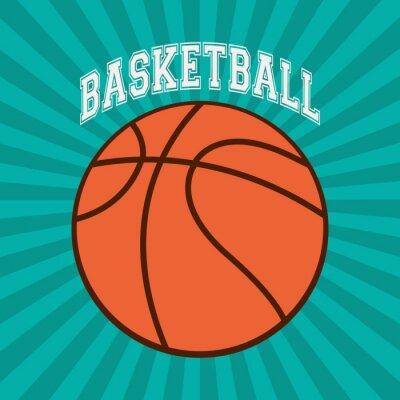 Fotomural Projeto do esporte do basquetebol