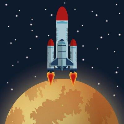 Fotomural Projeto do ícone do espaço