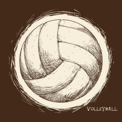 Fotomural Projeto do ícone do voleibol
