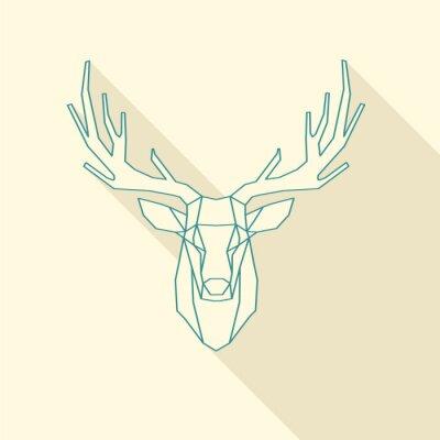 Fotomural quadro cervos