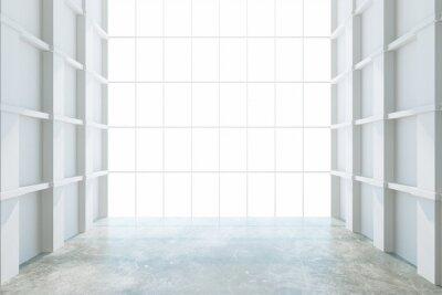 Fotomural Quarto vazio moderno com janela grande