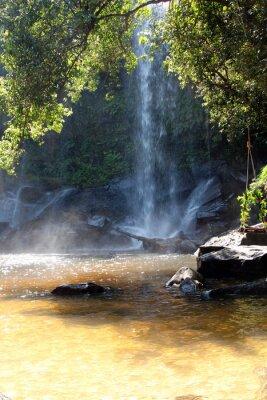 Fotomural Quedas no território do parque nacional, Camboja