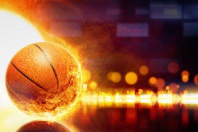 Fotomural Queimando basquete