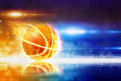 Fotomural Quente queima basquete