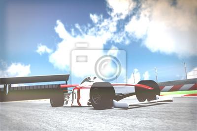 Fotomural Race Car na pista