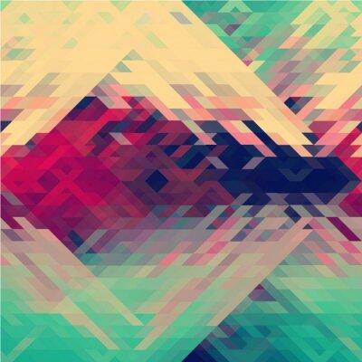 Fotomural Rainbow cores triangular vetor padrão