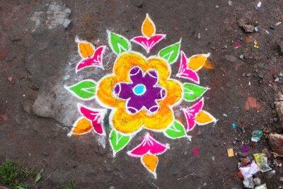 Fotomural Rangoli / Munnar (Kerala / Inde