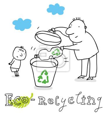 reciclagem eco desenho vetorial fotomural fotomurais lixo