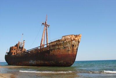 Fotomural Relitto di una nave arenata