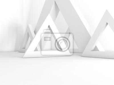 Fotomural renderização 3D interior vazio