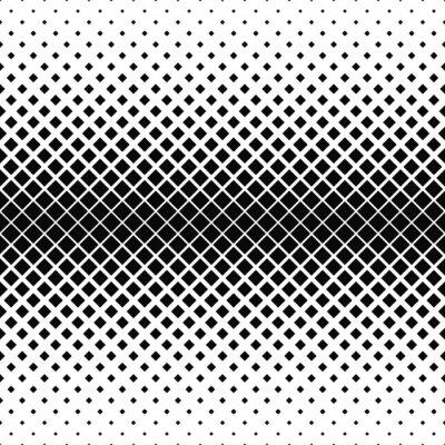 Fotomural Repetir padrão quadrado monocromático