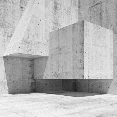 Fotomural Resumo concreto branco interior fragmento 3 d