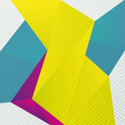Fotomural Resumo origami