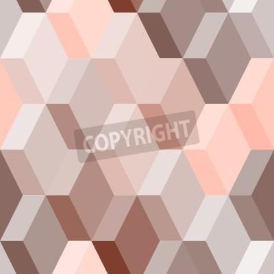 Fotomural Resumo padrão geométrico sem emenda em rosa e marrom, vetor