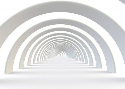 Fotomural Resumo túnel futurista em um estilo contemporâneo