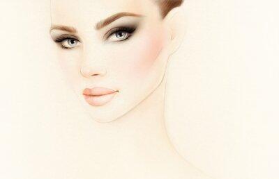 Fotomural Retrato da mulher. Ilustração da moda